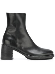 Ann Demeulemeester Chunky Heel Ankle Boots Black