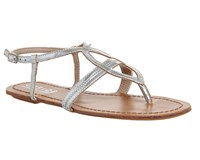 Office Believe Strappy Sandals Silver