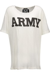 Nlst Army Cotton Blend T Shirt Ecru