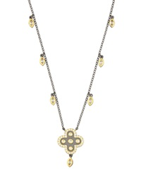 Freida Rothman Belargo Short Clover Pendant Necklace