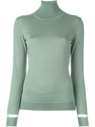 Lanvin Sheer Detail Jumper Blue