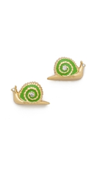 Kate Spade Lawn Party Snail Stud Earrings