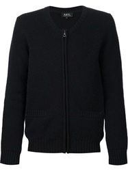 A.P.C. Crew Neck Cardigan Blue