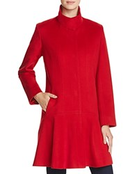 Sofia Cashmere Princess Seam Wool And Coat Red