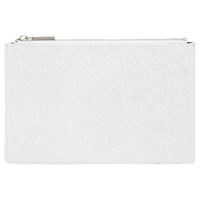 Whistles Small Stingray Clutch Bag White