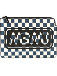Marc By Marc Jacobs Logo Check Clutch Blue