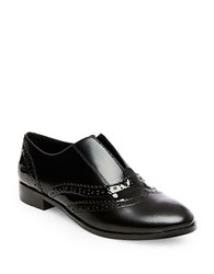 Steve Madden Alvanah Leather Wingtip Slip On Oxfords Black