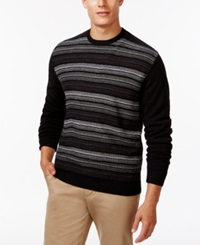 Weatherproof Striped Crew Neck Sweater
