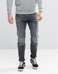 G Star 5620 3D Slim Jeans In Washed Grey Medium Aged Restored