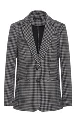 Tibi Boyfriend Gingham Suit Jacket Black