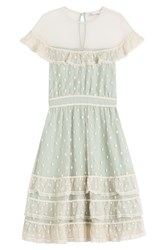Red Valentino Dress With Polka Dot Tulle Green