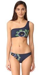 Tory Burch Avalon One Shoulder Bikini Top Navy Avalon
