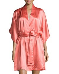 Natori Jasmine Short Silk Wrap Robe Women's