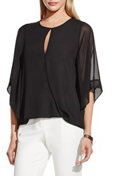 Women's Vince Camuto Kimono Sleeve Faux Wrap Blouse Rich Black