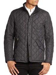Barbour Chelsea Quilted Sports Jacket Navy Black Olive