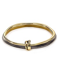 Alexis Bittar Lucite And Liquid Metal Double Skinny Bangles Set Of 2 Black Gold