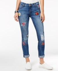 Kut From The Kloth Catherine Patched Cropped Jeans Medium Wash