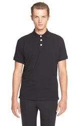 J.W.Anderson Knot Button Polo Black
