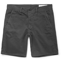 Rag And Bone Washed Cotton Twill Chino Shorts Gray