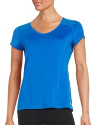 Calvin Klein Mesh Accented Athletic Tee Blue