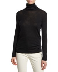 Brunello Cucinelli Back Zip Wool Turtleneck Sweater Volcano