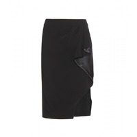 Altuzarra Avenger Draped Pencil Skirt Black
