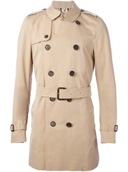 Burberry London Short Trench Coat Nude And Neutrals