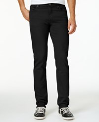 William Rast Men's Slim Fit Straight Leg Dean Twill Pants Black