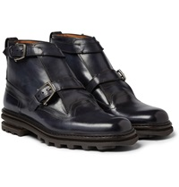 Berluti Double Strap Leather Boots