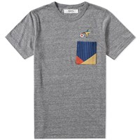 Fdmtl Origami Pocket Tee Grey