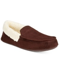 Club Room Men's Slippers Chris Suede Clog Brown