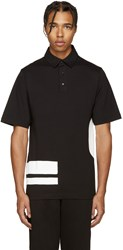 Mcq By Alexander Mcqueen Black Relaxed Polo