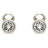 Finesse Swarovski Crystal Clip On Earrings Silver