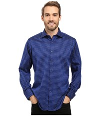 Bugatchi Carlo Long Sleeve Woven Shirt Night Blue Men's Long Sleeve Button Up Navy