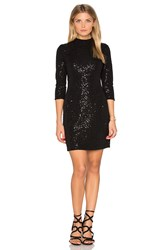 Hoss Intropia Long Sleeve Embellished Mini Dress Black