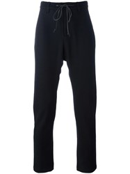 Attachment Drawstring Trousers Black