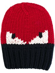 Fendi Bag Bugs Beanie Red