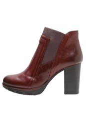 Mjus High Heeled Ankle Boots Oriente Red
