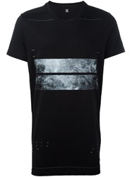 Julius Printed Loose Fit T Shirt Black
