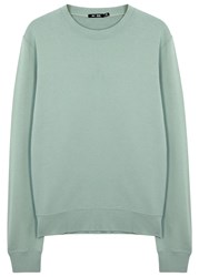 Blk Dnm Mint Cotton Sweatshirt Blue