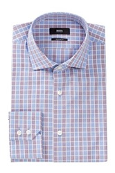 Hugo Boss Gordon Regular Fit Checkered Dress Shirt Pink
