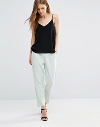 Minimum Fia Cropped Trousers Surf Mint Green