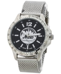 Game Time New York Mets Cage Series Watch Silver Black