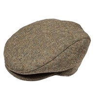 Dents Mens Flat Cap In Abraham Moon Tweed Spruce