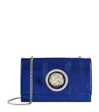 Versus By Versace Flap Chain Shoulder Bag Female Navy