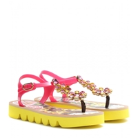Dolce And Gabbana Embellished Sandals Peonie Margher.Nero
