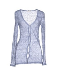 Paolo Pecora Donna Cardigans Pastel Blue