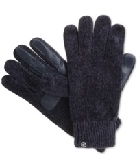 Isotoner Signature Chenille Knit Palm Tech Touch Gloves Navy