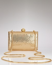 Sondra Roberts Hard Body Mesh Clutch Gold Gold