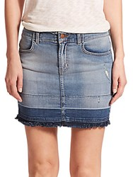 J Brand Lela Distressed Denim Mini Skirt Drift